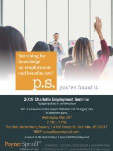 Invitation to Charlotte Employment Seminar